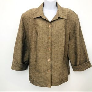 🌈Lovely 22W Sag Harbor Button Up Jacket/Top
